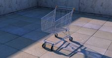 Free Lone Shopping Cart Royalty Free Stock Photography - 89059097