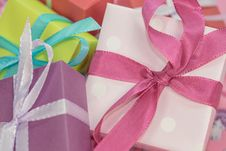 Free Pile Of Multi Colored Gift Boxes Stock Photography - 89060692
