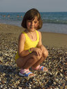 Free A Girl Plays On The Beach At Water Stock Photography - 8912052