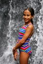 Free Beautiful Girl In Front Of A Waterfall Stock Photos - 8917223