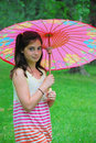 Free Girl With Parasol Stock Photos - 8918673