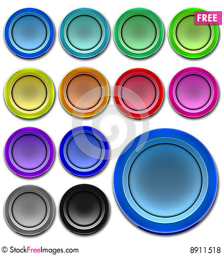 Free Web Buttons Royalty Free Stock Photos - 8911518