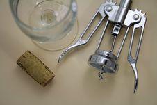 Free Corkscrew And Glass Stock Photo - 8910130