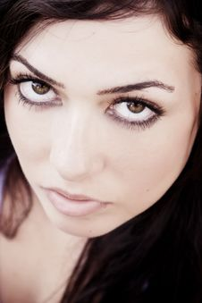 Free Staring Woman Royalty Free Stock Photo - 8910915