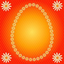 Banner In The Form Of An Easter Egg Royalty Free Stock Image