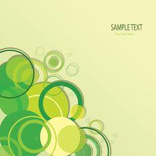 Stylish Green Banner Stock Image