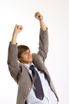 Free Businessman Victory Sign Stock Photos - 8911193