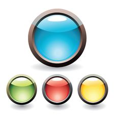 Free Set Of Buttons Royalty Free Stock Photos - 8912088