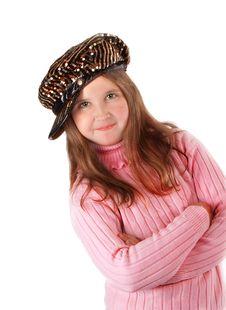 Free Girl On Pink Sweeter Stock Image - 8912091