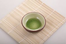 Free A Bamboo Mat And Round Bowl Royalty Free Stock Photo - 8912405