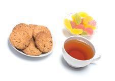 Fruit Candy, Oats Cookies Royalty Free Stock Image