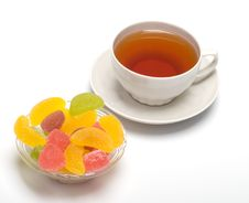 Free Fruit Candy And Tea Royalty Free Stock Photos - 8913798