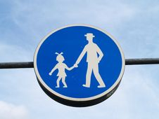 Free Pedestrian Path Sign Stock Images - 8914224