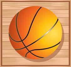 Free Basket Ball On Floor Royalty Free Stock Photos - 8915258