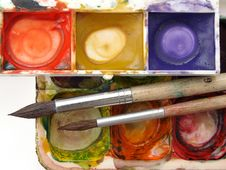 Dirty Paints Royalty Free Stock Photo