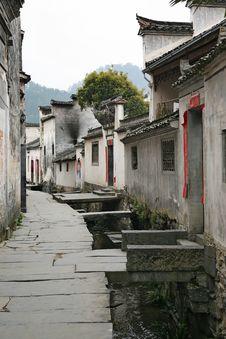 Free Chinese Village Street Royalty Free Stock Photo - 8918335