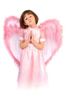 Free Pink Angel Stock Photography - 8919142