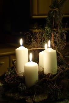 Free Four Candles Stock Photo - 89129400