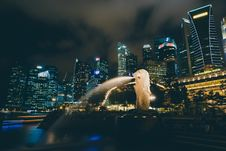 Free Singapore And Merlion Royalty Free Stock Image - 89130626
