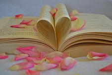 Free Book With Rose Petals Royalty Free Stock Image - 89193346