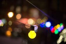 Free Defocused Image Of Illuminated Lights At Night Stock Photos - 89194273
