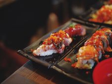 Free Sushi Plate Royalty Free Stock Photo - 89195255