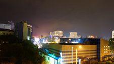 Free Urban Skyline At Night Royalty Free Stock Image - 89195556