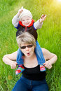 Free Playing With Grandmother Stock Images - 8924724