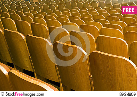 Free Seats Of Auditorium Royalty Free Stock Images - 8924809