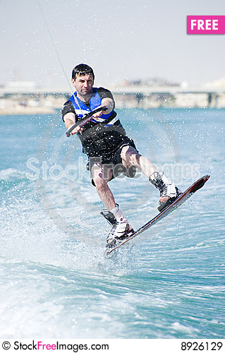 Free Wakeboarder In Action Royalty Free Stock Images - 8926129