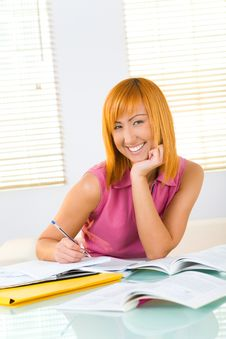 Free Girl Doing Homework Stock Photo - 8920300