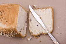 Free Bread In Piece With Knife Royalty Free Stock Photo - 8920685