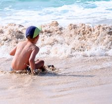 On The Beach Stock Photography