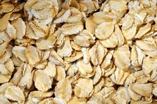 Oat-flakes, Background. Stock Photography