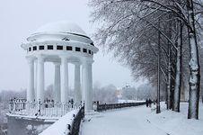 Rotunda On River Volga Royalty Free Stock Images