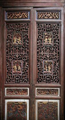 Carved Door Stock Image