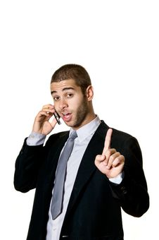 Free Young Man With Cellphone Royalty Free Stock Image - 8923296