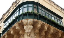 Free Maltese Green Balcony In Valletta Stock Images - 8924804