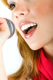 Free Singing Young Woman Stock Photography - 8924912