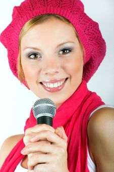 Free Singing Young Woman Stock Photos - 8924933