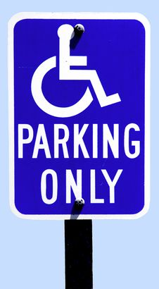 Free Parking Sign For Disabled Drivers Stock Images - 8926084