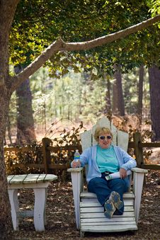 Free Woman On Outdoor Furniture Royalty Free Stock Photography - 8926137