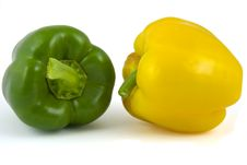 Free Two Bell Peppers Royalty Free Stock Image - 8927266