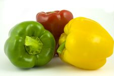 Free Three Bell Peppers Royalty Free Stock Photo - 8927295