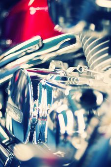 Free Classic View Of A Motorcycle Engine Stock Photos - 8928453