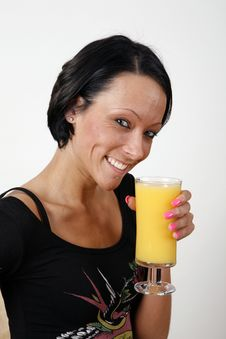 Free Drinking Orange Juice Royalty Free Stock Image - 8928566