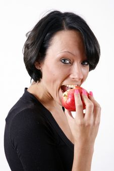 Free Girl Eating Apple Royalty Free Stock Images - 8928599