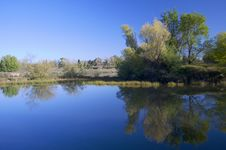 Free American River Pond With Reflection Royalty Free Stock Image - 8928976