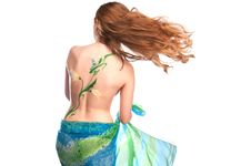 Free Sexy Girl With Bodyart On Her Back Royalty Free Stock Photos - 8928998