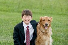 Free Boy With His Dog Royalty Free Stock Photo - 8929535